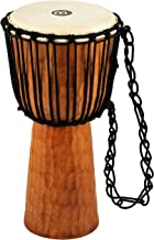 Meinl Percussion Djembe with Mahogany Wood-NOT Made in CHINA-10 Medium Size Rope Tuned Goat Skin Head, 2-Year Warranty, Br...