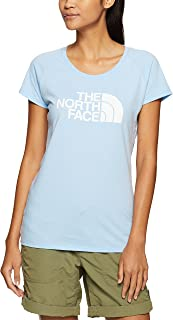 The North Face Women's W S/S Scoop Neck TEE Chambray Blue Heather/TNF White