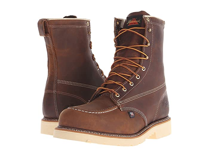 Thorogood  American Heritage 8 Steel Toe (Brown Crazy Horse) Mens Work Boots