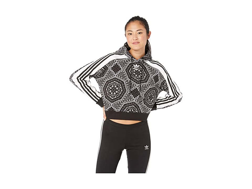 adidas Originals Cropped Hoodie (Black/White) Women