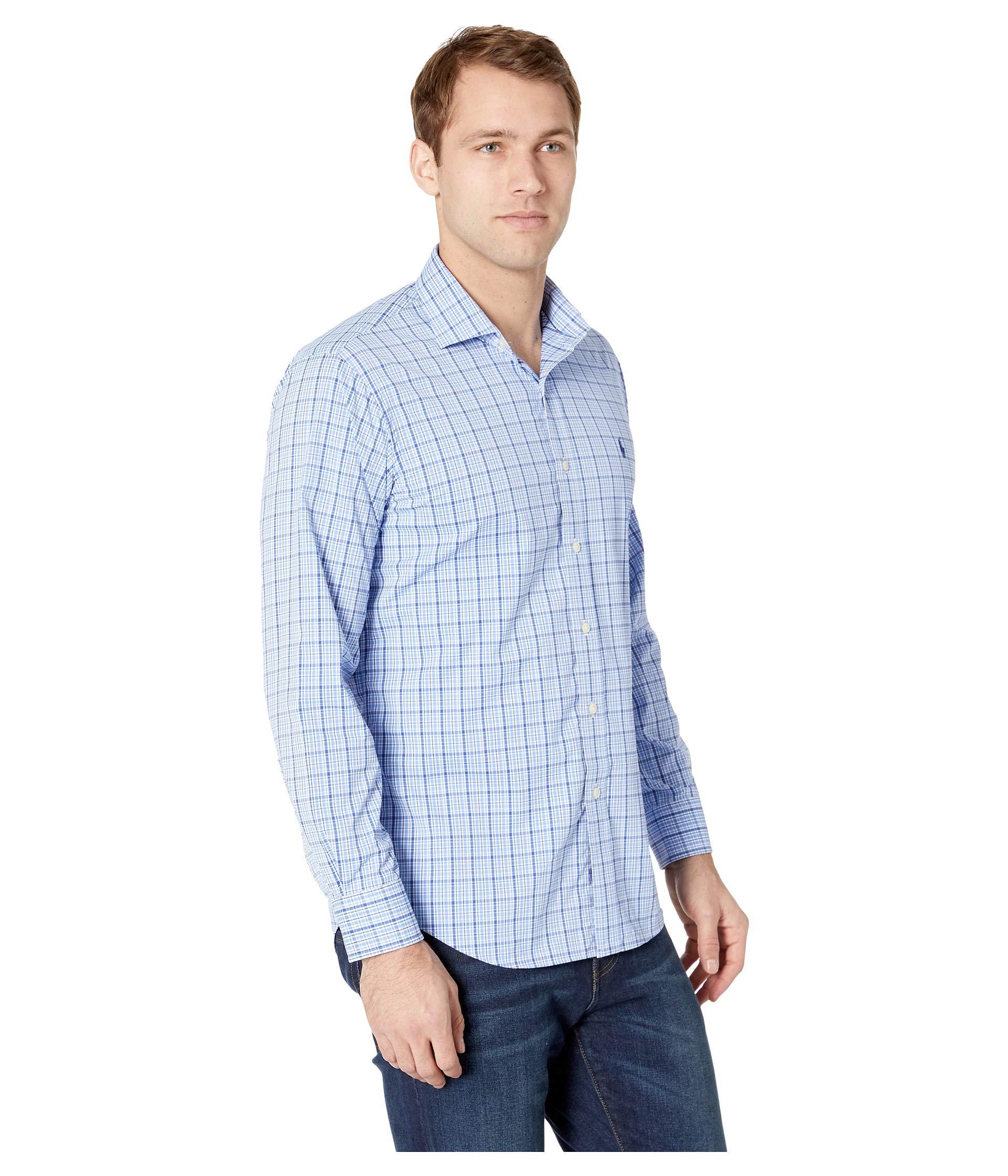 Landon Sport Twill Shirt blue Classic Sleeve Long Ralph Performance Lauren Polo Multi FzqaW