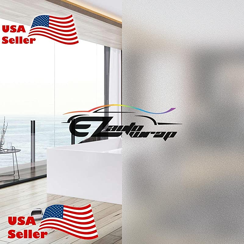 EZAUTOWRAP Frosted Glass Peel And Stick Window Film Home Bedroom Bathroom Privacy Waterproof Sticker Decal 4 X8 10cm X 20cm Sample