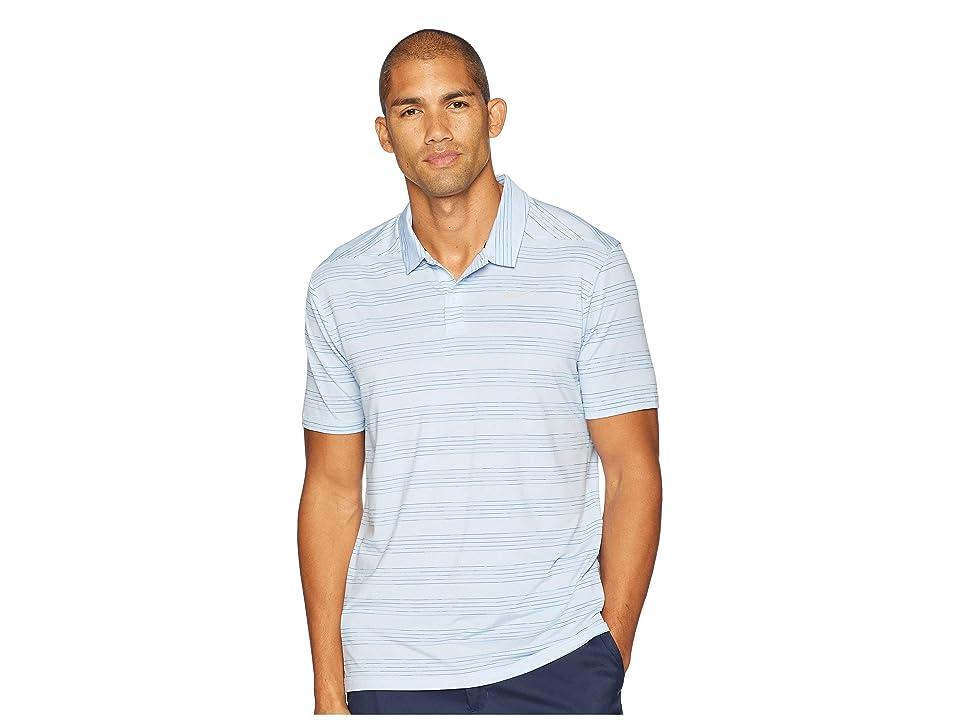 Nike Golf Dry Polo Heather Textured (White/Royal Tint/Gym Blue/Flint Silver) Men