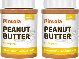 Pintola All Natural Honey Peanut Butter (Creamy) (1kg) + Pintola All Natural Honey Peanut Butter (Crunchy) (1kg)