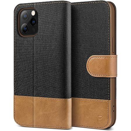 BEZ® Cover iPhone 12, Cover iPhone 12 PRO, Custodia per Portafoglio iPhone 12 / iPhone 12 PRO Protettiva in Tela e PU Pelle Portafoglio Flip Cover con ...