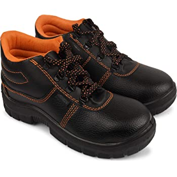 Aktion Safety Synthetic Leather Shoes RA-704 - Size 7, Black