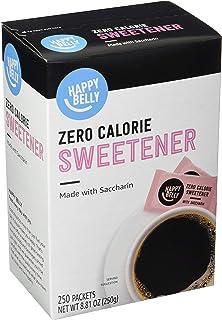 Amazon Brand - Happy Belly Zero Calorie Pink Saccharin Sweetener, 250 Count