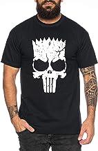 Bart Punsh -Camiseta de Hombre Cooles Lisa Homer Marge APU Ned Moe Fun Shirt