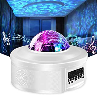 Star Projector Night Light Projector with LED Galaxy Ocean Wave Projector Bluetooth Music..