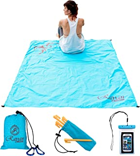 Rayan Deluxe Ultralight Pocket Blanket Set for Beach, Hiking, Backpacking, Festival - Waterproof Camping Sand Resistant Tarp - Packable, Portable and Compact Cruise Ship Accessories for Women