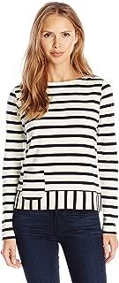 Joan Vass Women's Long Sleeve Stripe Tee