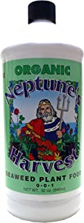 Neptune's Harvest SW136 Liquid Seaweed Plant Food 0-0-1 1qt, 32 Ounce