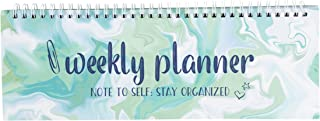 Weekly Planner - Spiral Weekly Planner Pad, Undated Desk Calendar, to Do Lists, Shopping List, Meal Planning, Appointment Book Schedule, for Teachers, Students, Class Schedule, 11.7 x 4.1 Inches