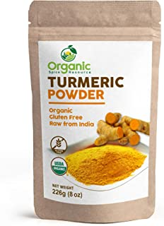 Organic Turmeric Root Powder | 8oz or 16 oz (1 lbs) | Lab Tested for Heavy Metal and Purity, Resealable Kraft Bag, Non-GMO...