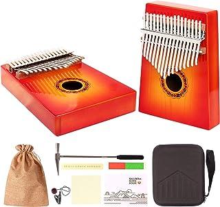Amkoskr Kalimba 17 Touches Piano, Piano en Noyer, Marimba Portable, Piano à Pouce en Bois, Bon Cadeau pour les Amateurs de...