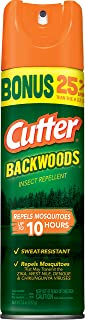 Cutter Backwoods Insect Repellent, Aerosol, 7.5-Ounce, 12-Pack
