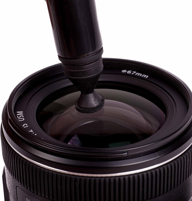2x Cabezales de limpieza suave Lens Pen Bol/ígrafo para Limpieza de Equipo fotogr/áfico de doble punta R/éflex Objetivos Vitrinas Para lentes C/ámaras Con cepillo Lens-Aid Filtros