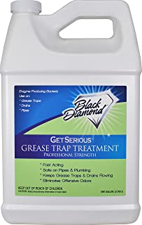 Black Diamond Stoneworks GET SERIOUS Grease Trap Treatment Commercial Enzyme Drain Opener, Cleaner, Odor Control, Trap Cle...
