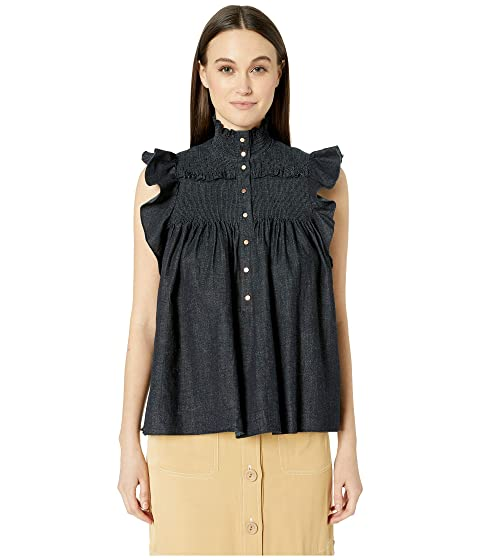f466547aca See by Chloe High Neck Sleeveless Blouse at Luxury.Zappos.com