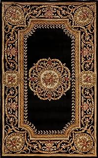 Momeni HARMOHA-12BLK600O Harmony Collection Area Rug, 6' x 6' Octagon, Black