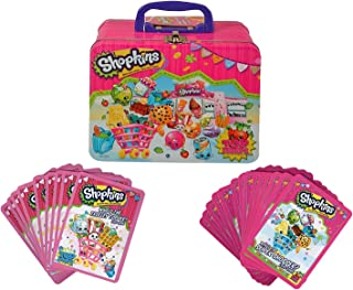 Shopkins Who's The Shopper and Who's The Trolley Topper Card Games with Tin