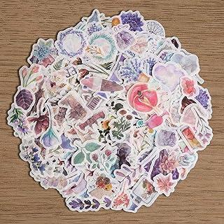 Fancico Washi Sticker Pack, 11 Feuilles (440pcs) Plante  Vintage   Botanique   Pétales   Galaxy Scrapbooking Autocollant p...