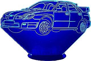SUBARU Impreza WRX(2),Lampada illusione 3D con LED - 7 colori.
