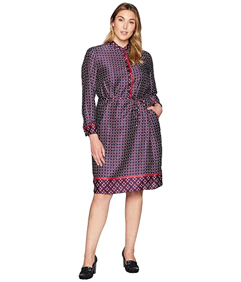 ee439c10f56 LAUREN Ralph Lauren Plus Size Print Twill Shirtdress at 6pm