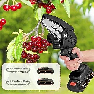 Kacsoo Mini motorsåg sladdlös elektrisk motorsåg uppladdningsbart batteri bärbar elektrisk såg professionell sladdlös träd...