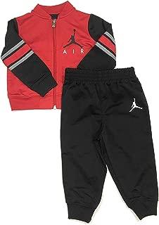 Jordan Infant Boys Zip-Up Jacket and Pants Set Black/Gym Red 12 Months