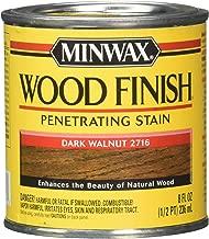 Minwax 22716 - 8 fl oz (1/2 pint) Wood Finish Interior Wood Stain, Dark Walnut 2716