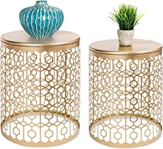 Best Choice Products Set of 2 Decorative Round Accent Side Coffee End Table Nightstands for Living Room, Bedroom, Office, ...