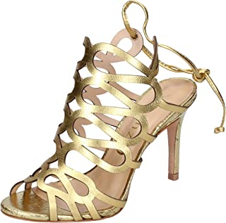 Vicenza Fashion Sandals Womens Leather Gold