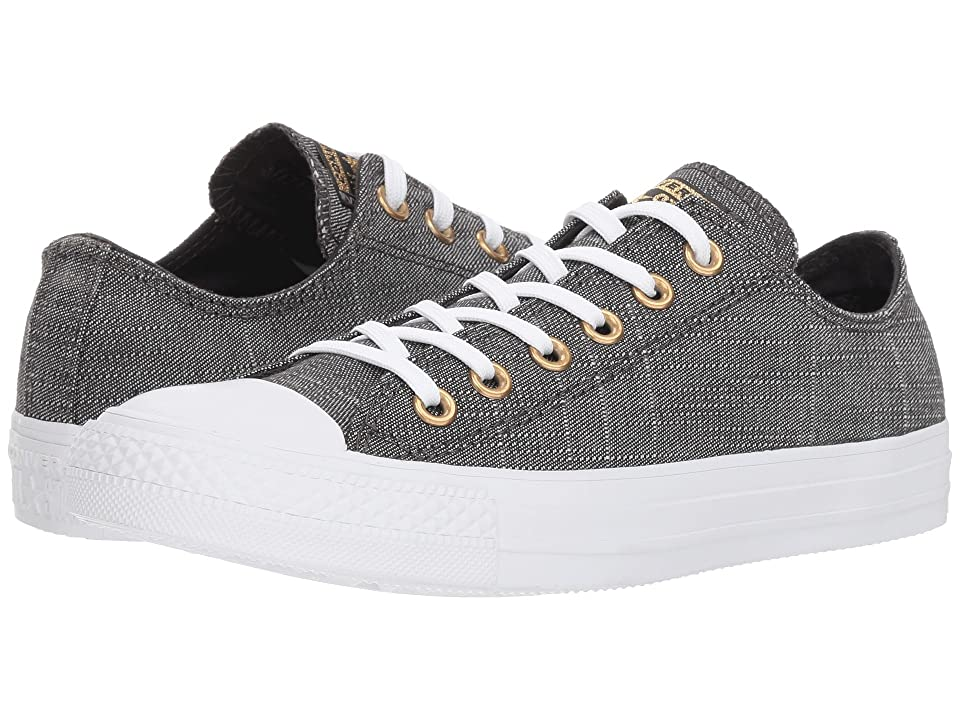 Converse Chuck Taylor(r) All Star(r) Ox Washed Linen (Black/Driftwood/White) Women