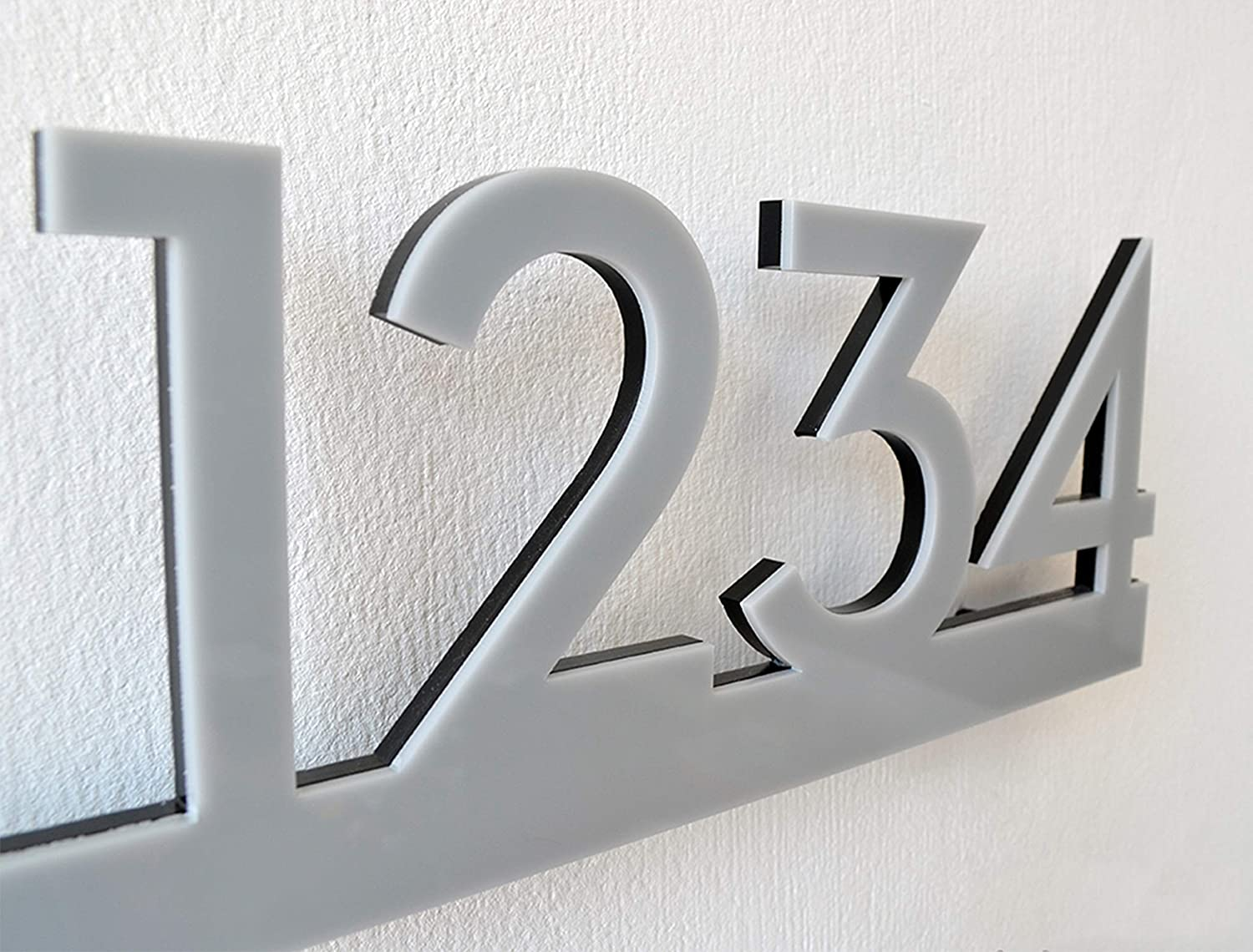 Modern House Numbers - Grey Black Acrylic Ho with Elegant Contemporary store