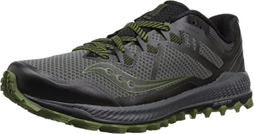 Saucony Men's Peregrine 8 Running chaussures, gris noir, 10.5 Medium US