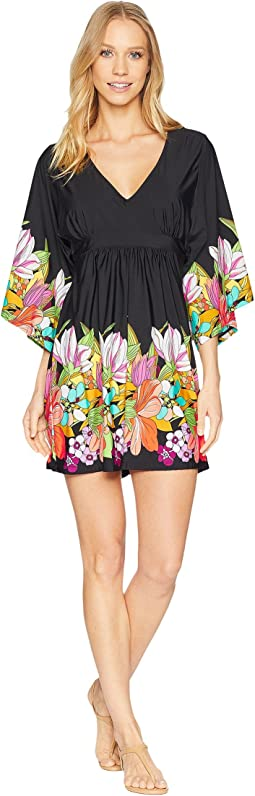 Trina Turk Bouquet Floral Tunic Cover-Up