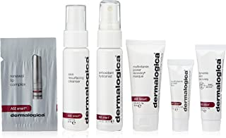 Dermalogica AGE Smart Starter Kit - Anti Aging Skin Care Set Contains: Face Wash, Toner, Face Mask, Sunscreen, Eye Cream and Lip Balm Moisturizer