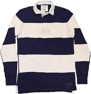 Polo Rugby Mens Distressed Worn Sweatshirt Shirt Navy Stripe Small