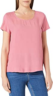 Only Women's ONLFIRST ONE LIFE S/S SOLID WVN T-Shirt