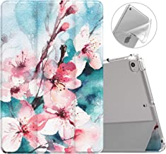 MoKo Case Fit New iPad Mini 5 2019 (5th Generation 7.9 inch), Slim Smart Shell Stand Folio Case with Soft TPU Translucent Frosted Back Cover, Auto Wake/Sleep - Peach Blossom