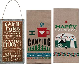 Happy Camper Decor - Camper Dish Towels and Camping Rules...