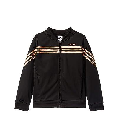 adidas Kids Linear Tricot Jacket (Big Kids) (Black) Girl