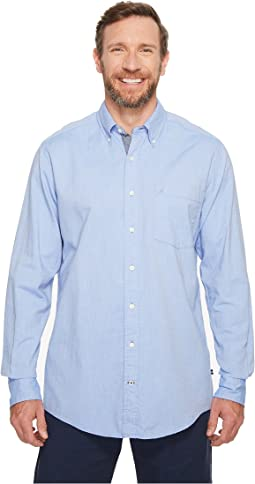 Nautica Big & Tall - Big & Tall The Hitch Long Sleeve Oxford Woven Shirt