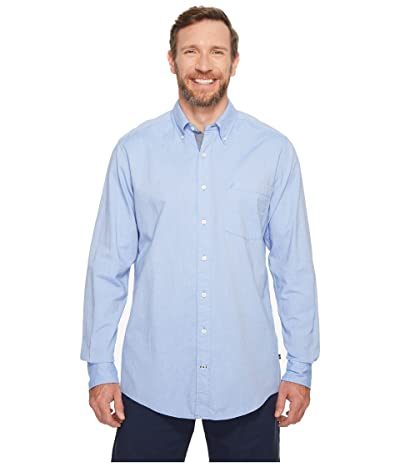 Nautica Big & Tall Big Tall The Hitch Long Sleeve Oxford Woven Shirt (French Blue) Men