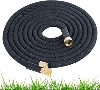Expandable Garden Hose 50 Ft Long | Heavy Duty Water Hose | Retractable Hose for Gardening Car Wash RV Motorhome Camper Accessories Flexible Kink Free Marine Hose