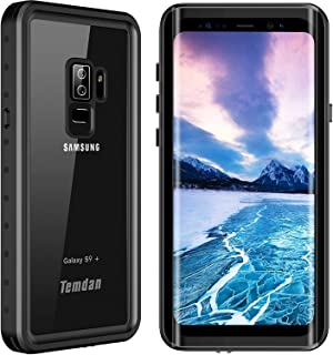 Galaxy S9+ Plus Waterproof Case. Temdan 2018 Support Wireless Charging Case  Rugged Built in Screen fd7453119