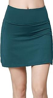 Oalka Women's Active Athletic Skirt Sports Golf Tennis Running Pockets Skort