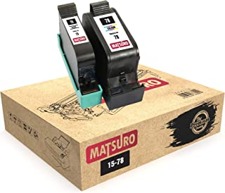 Matsuro Original | Compatible Remanufactured Cartuchos de Tinta Reemplazo para HP 15 78 (1 Set)