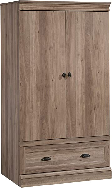 Sauder 423299 Barrister Lane Armoire Salt Oak Finish